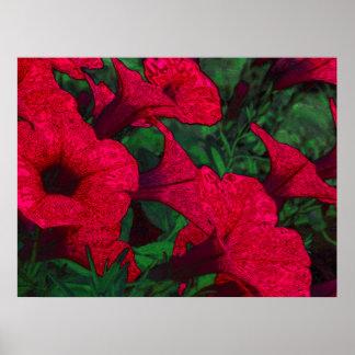 Tapestry Flowers: Fuschia Poster
