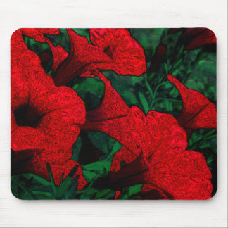 Tapestry Flowers Red Mouse Pads