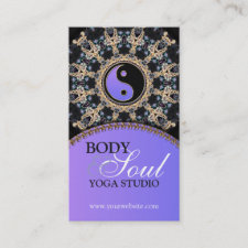 Tapestry Gems New Age Yoga Business Cards