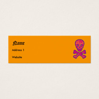 Tapestry Head Purple Mini Business Card