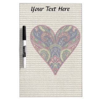 Tapestry Heart Collage Dry-Erase Board