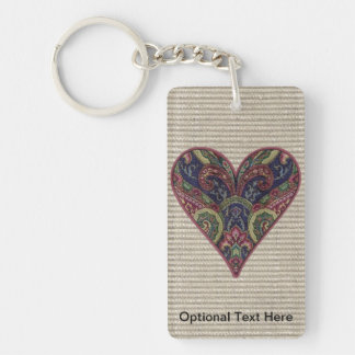 Tapestry Heart Collage Keychain