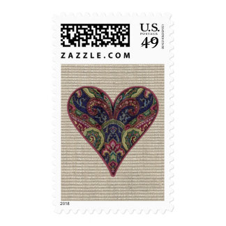 Tapestry Heart Collage Postage