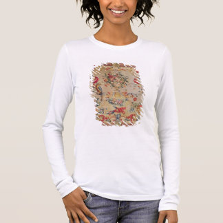 Tapestry in early Rococo style with strapwork and Long Sleeve T-Shirt