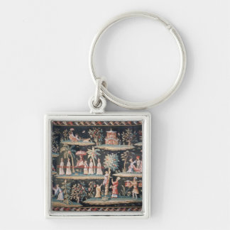 Tapestry in the Chinoiserie style of John van Key Chain