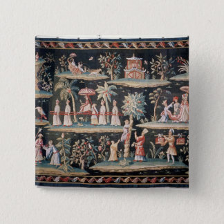 Tapestry in the Chinoiserie style of John van Pinback Button