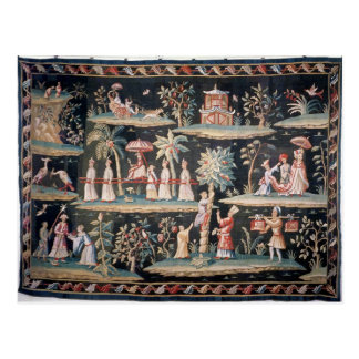 Tapestry in the Chinoiserie style of John van Postcard