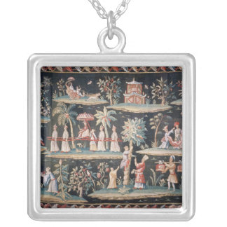 Tapestry in the Chinoiserie style of John van Silver Plated Necklace