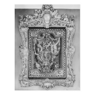 Tapestry of coat of arms of French Royal Family Postcard