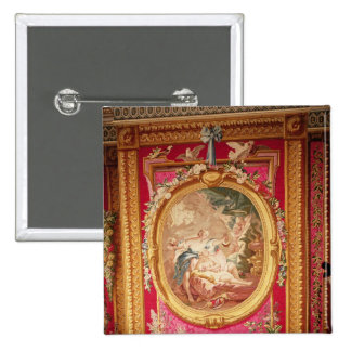 Tapestry panel depicting Cupid and Psyche 2 Inch Square Button