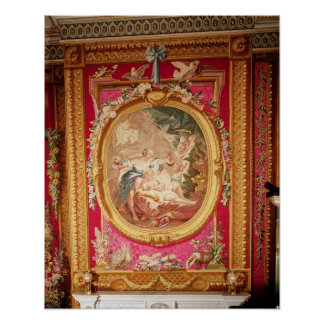 Tapestry panel depicting Cupid and Psyche Poster