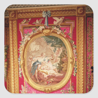 Tapestry panel depicting Cupid and Psyche Square Sticker