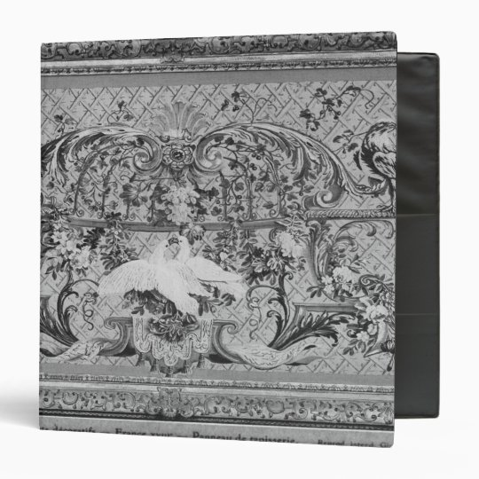 Tapestry panel with birds and flowers binder
