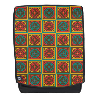 Tapestry pattern backpack