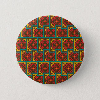 Tapestry pattern pinback button