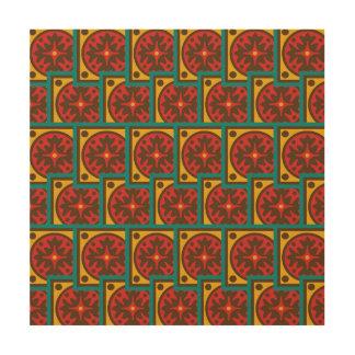 Tapestry pattern wood wall decor