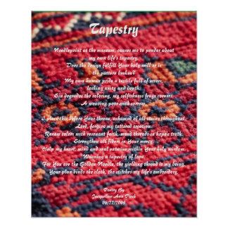 Tapestry Poetry Poster