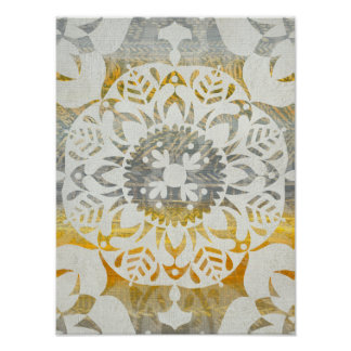 Tapestry Rosette II Poster