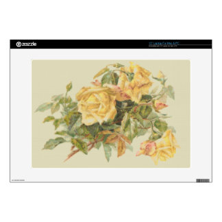 Tapestry Style Yellow Roses Skin For Laptop
