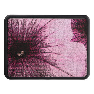 Tapestry Textured Pink and Black Petunias Trailer Hitch Covers