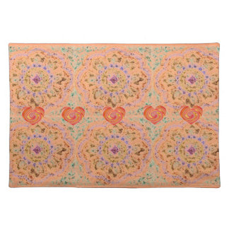 Tapestry With Swirled Hearts Placemat