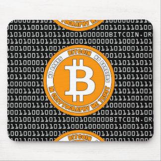 Tapete negro Bitcoin - M1b Mousepad