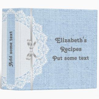 """Tapetito blanco con el cordón y la receta azul de carpeta 2"""""""