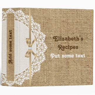 Tapetito blanco romántico con receta del cordón y