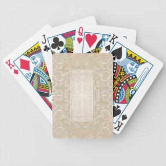 Tapetito del cordón del vintage barajas de cartas