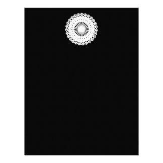Tapetito Imagen blanca del círculo del cordón Membrete A Diseño