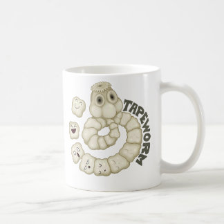 Tapeworm Classic White Coffee Mug