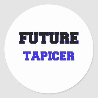 Tapicer futuro pegatina redonda
