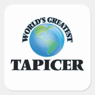 Tapicer más grande del mundo calcomania cuadradas personalizada