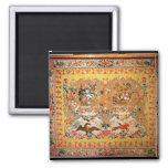 Tapicería, 1720s (materia textil) imán cuadrado