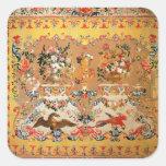 Tapicería, 1720s (materia textil) pegatina cuadrada