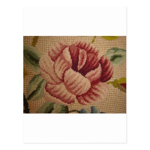 Tapicería color de rosa rosada francesa tarjeta postal