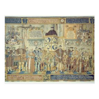 Tapicería de Croy 1554 Postales