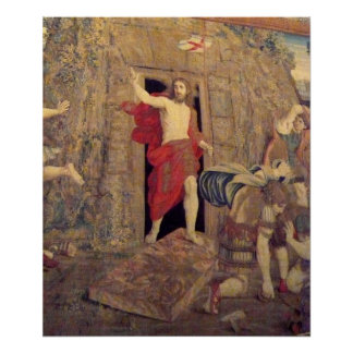 Tapicería de Jesús en el Vatican Posters