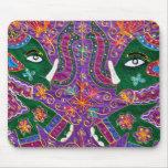 Tapicería de la púrpura del elefante indio tapete de ratones