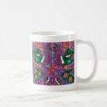 Tapicería de la púrpura del elefante indio taza de café