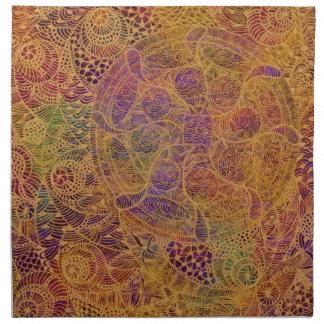 Tapicería de oro servilletas imprimidas