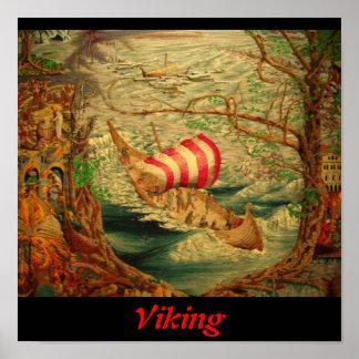 Tapicería de Viking Poster