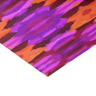 Tapicería del papel seda púrpura y anaranjado