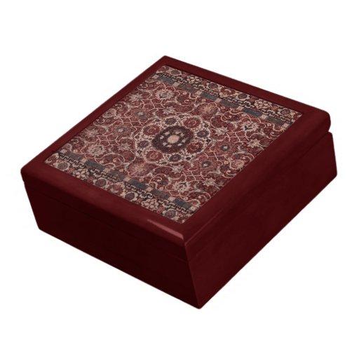 Tapicería del persa del vintage joyero cuadrado grande