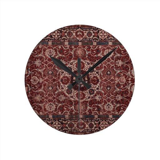 Tapicería del persa del vintage reloj de pared