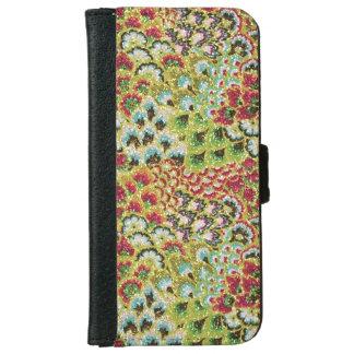 Tapicería floral de la caída reluciente carcasa de iPhone 6