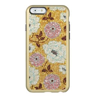 Tapicería floral del brocado de la caída que funda para iPhone 6 plus incipio feather shine