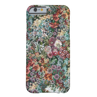 Tapicería floral funda de iPhone 6 barely there