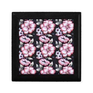 Tapicería floral caja de recuerdo