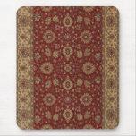 Tapicería persa roja del arabesque del escarlata alfombrilla de ratones